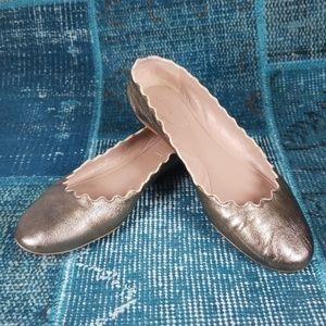 """Chloe sz 38.5 """"Lauren"""" Flats in Bronze"""